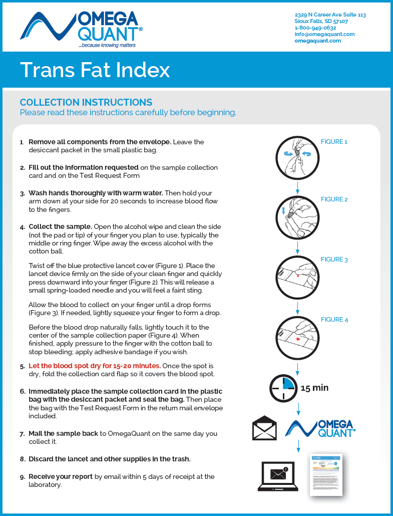 Trans Fat Index Kit Instructions